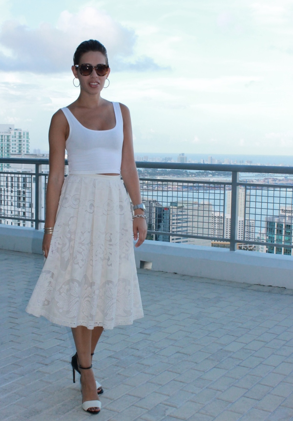 Summer White Skirt & Top
