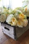 wedding flowers, yellow rose bouquet